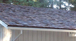 After cedar shake roof cleaning