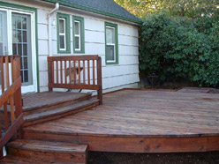 After deck cleaning & refinishing