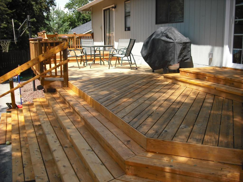 A properly stained deck