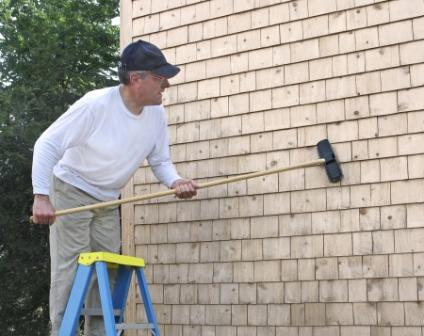 Brush washing siding - compressed