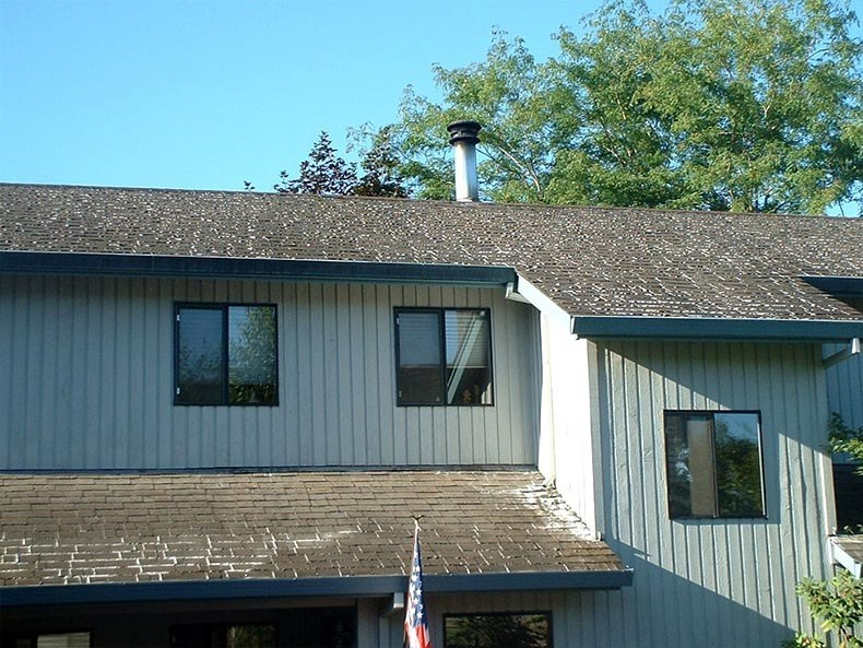 before roof cleaning Portland