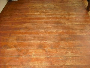 Overstained deck