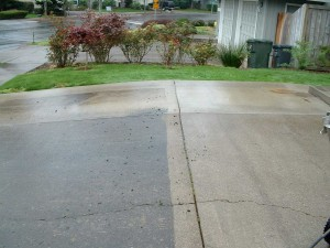 Driveway Pressure Washing - Side by Side
