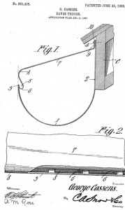 Reverse curve gutter cover - 1908 patent